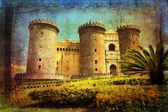 Naples, Maschio Angioino Stock Image
