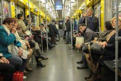 Naples Metro Wagon Royalty Free Stock Photos
