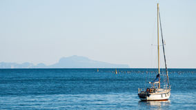 Naples morze obrazy royalty free