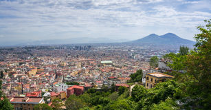 Naples and Mount Vesuvius Stock Photo