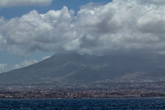 Naples and Mount Vesuvius Stock Images
