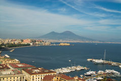 Naples and Mt.Vesuvius Stock Photos