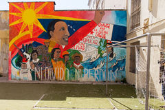 Naples, murales Sądowy szpital psychiatryczny Obrazy Stock
