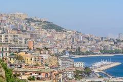 Naples (Napoli), Italien - Juni 10: Panorama av Naples, Juni 10, 2 Fotografering för Bildbyråer