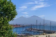 Naples (Napoli), Italien - Juni 10: Panorama av Naples, Juni 10, 2 Royaltyfri Foto