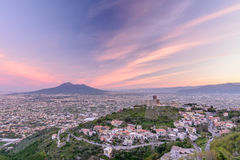 Naples (Napoli), Italy - June 10: Panorama of Naples and Mount V Stock Image
