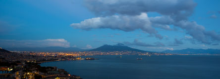 Naples by Night Stock Image