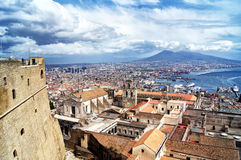 Naples panorama Arkivbild