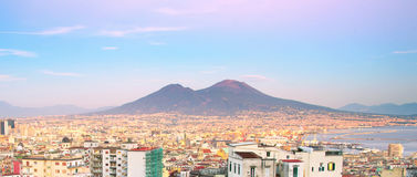 Naples panorama, Italy Royalty Free Stock Image