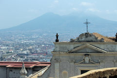 Naples panorama seen from the Castel Sant'Elmo Royalty Free Stock Image