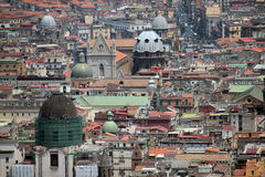 Naples panorama seen from the Castel Sant'Elmo royalty free stock images