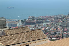 Naples panorama seen from the Castel Sant'Elmo Royalty Free Stock Photography