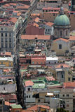 Naples panorama seen from the Castel Sant'Elmo stock photography