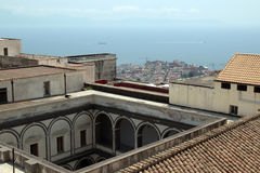 Naples panorama seen from the Castel SantElmo Stock Photo