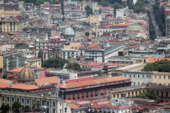 Naples panorama seen from the Castel SantElmo stock photography