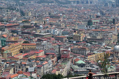 Naples panorama seen from the Castel SantElmo Royalty Free Stock Images