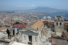 Naples panorama seen from the Castel SantElmo Royalty Free Stock Photo