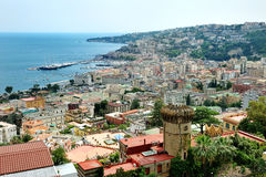 Naples panoramic view, Italy Stock Images