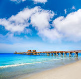 Naples Pier and beach in florida USA Stock Image