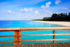 Naples Pier and beach in florida USA. Sunny day Royalty Free Stock Photos