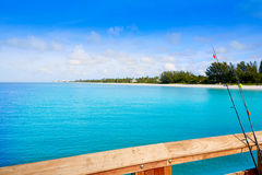 Naples Pier and beach in florida USA Royalty Free Stock Photo