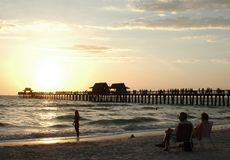 Naples_Pier_Florida Stock Foto's