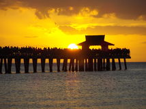 Naples pier Royalty Free Stock Photos
