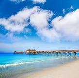 Naples pir och strand i florida USA Fotografering för Bildbyråer