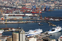 Naples port Royalty Free Stock Images