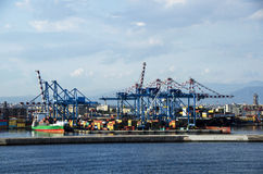 Naples port przy zmierzchem Zdjęcia Stock