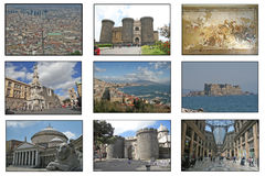 Naples postcard Royalty Free Stock Images