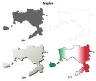Naples blank detailed outline map set. Naples province blank detailed outline map set Royalty Free Stock Photo