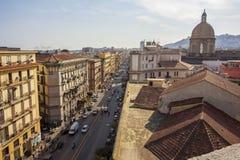 Naples Roofs. In piaza Garibaldi, Italy Royalty Free Stock Photo
