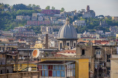 Naples roofs. Piaza Garibaldi, Italy Stock Photos