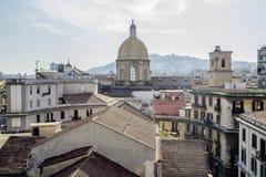 Naples roofs. In Plaza Garibarldi, Campana, Italy Royalty Free Stock Photography