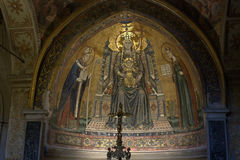 Naples - Saint Januarius Cathedral - Mosaic. A beautiful mosaic in San Gennaro Cathedral Stock Photography