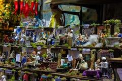 Naples, San Gregorio Armeno, przedstawicielstwo handle zdjęcia royalty free