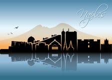 Naples skyline - Italy - vector illustration. Naples skyline - Italy - Europe city Stock Photos