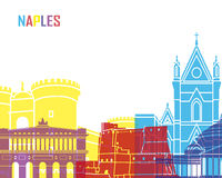 Naples skyline pop Royalty Free Stock Photos