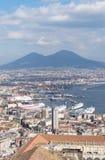 Naples skyline with Vesuvius Royalty Free Stock Photo