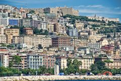 Naples skyline royalty free stock photography