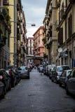 Naples small street, Italy royalty free stock photography