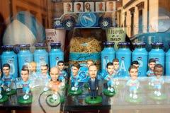 Naples soccer team souvenirs Italy Stock Photos