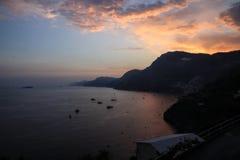 Naples solnedgång fotografering för bildbyråer