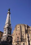 Naples Spire of San Domenico Royalty Free Stock Images