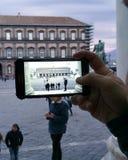 Naples square royalty free stock photos