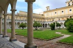 Naples ; St Martin chartreuse, le cloître photographie stock