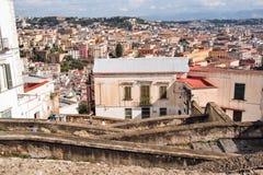 Naples starzy schodki Fotografia Royalty Free