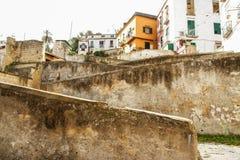 Naples starzy schodki Zdjęcia Royalty Free