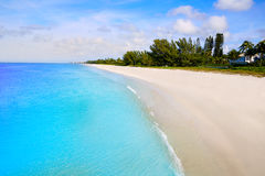 Naples strand i den soliga dagen Florida USA Royaltyfria Bilder